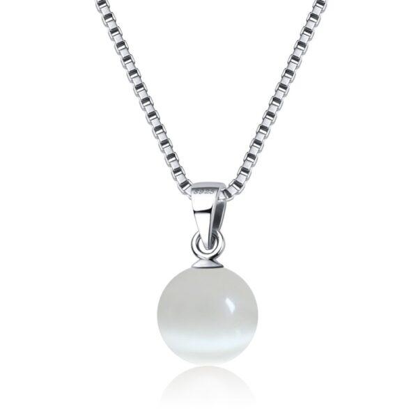 Pendentif pierre oeil de chat façonnée en perle