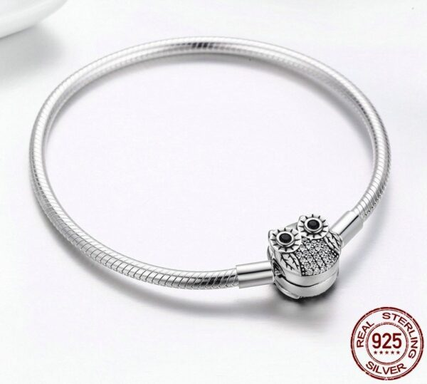 Bracelet charms en argent hibou