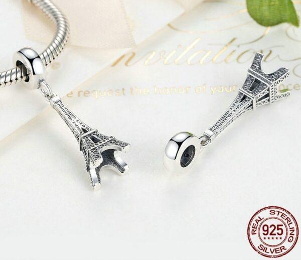 Pendentif charm en argent Tour Eiffel