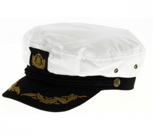 casquette marin capitaine coton blanc traclet