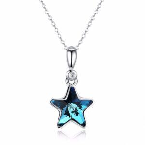 Pendentif étoile cristal bleu