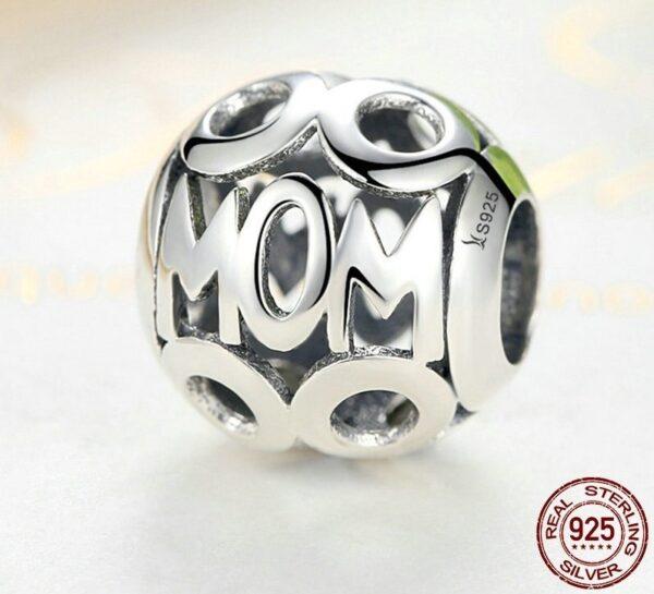 Charm perle en argent pour maman